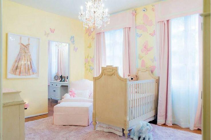 Light Yellow And Pink Girl S Nursery Yellow Nursery