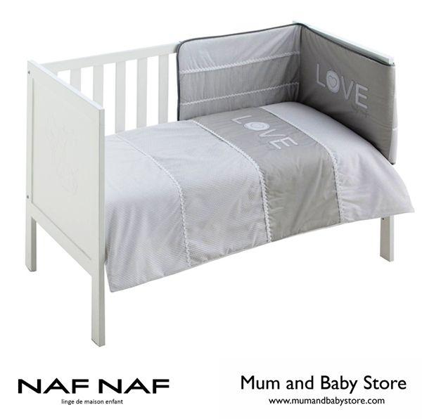 Quilt + bumper NAF NAF - LOVE GREY