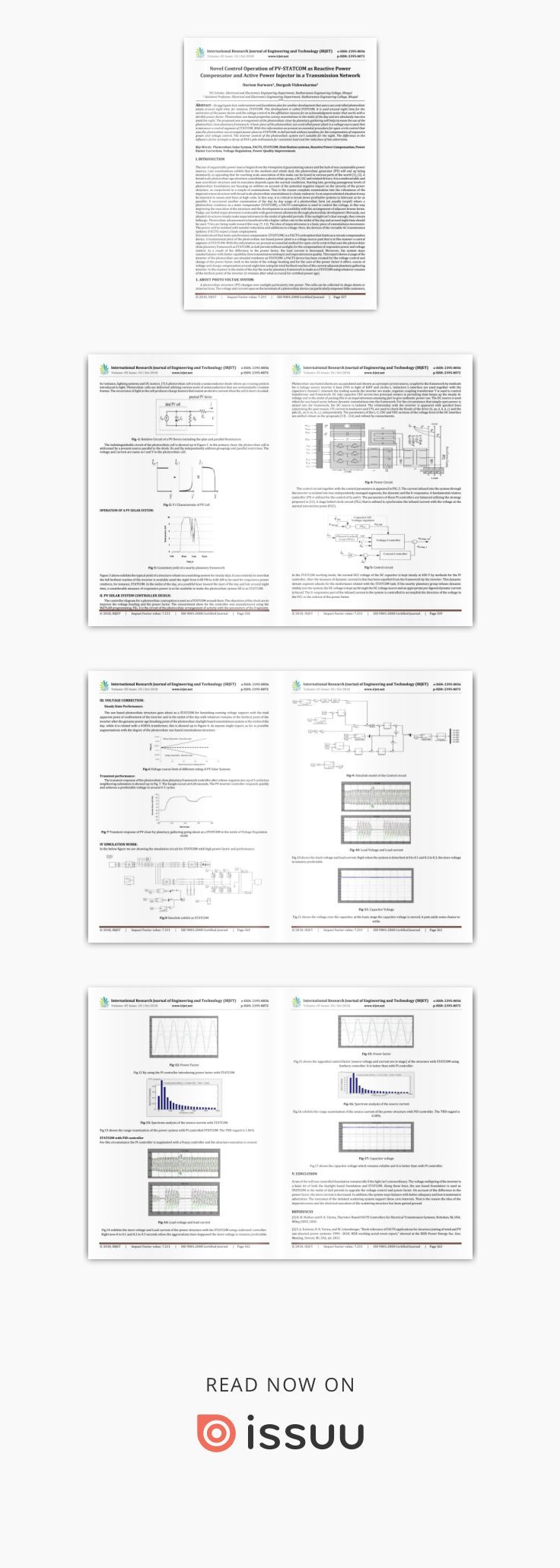 IRJET- Novel Control Operation of PV-STATCOM as Reactive