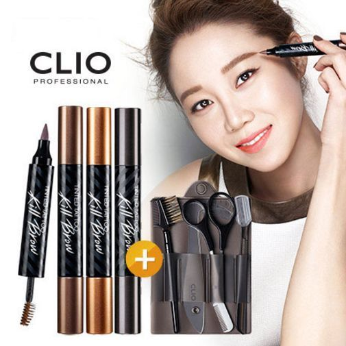 Clio Tinted Tattoo Kill Brow 3Type & Eyebrow Shaping Make Up Tool / Special Set  #Clio