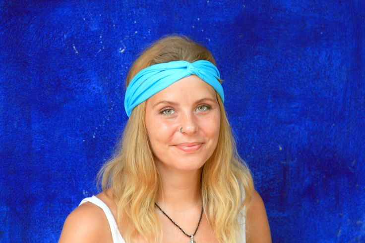 BUY 2 GET 1 FREE Perfect lightweight headband Workout head wrap Twisted hair wrap Running hair band Womens turban in sky blue by TheLightOfCreation on Etsy