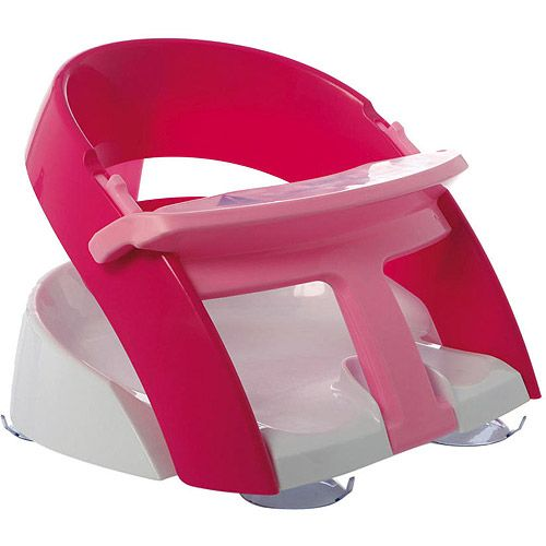 $25 Dream Baby Deluxe Bath Seat, Pink. Just ordered this for Lily. Suction cups to bath tubs or sinks for easier bathing w/ babies-toddlers
