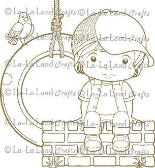 Sitting Luka Digi Scene 6 - DIGI Stamp