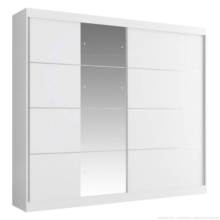 Compre Guarda-roupa 2 Portas de Correr com Espelho Capri Branco - Manto Móveis em Promoção com ✓ Até 12x ✓ Fretinho