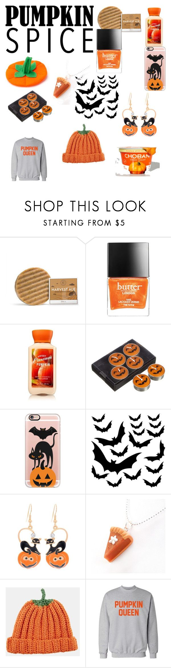 """""""pumpkin spice!!"""" by mayal-2 ❤ liked on Polyvore featuring Butter London, John Lewis, Casetify and ASOS"""