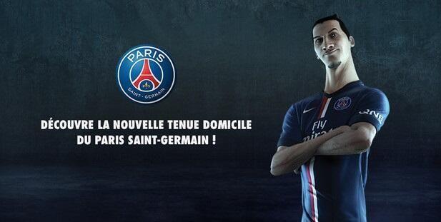 Officiel : Le nouveau maillot PSG de la saison 2014/15