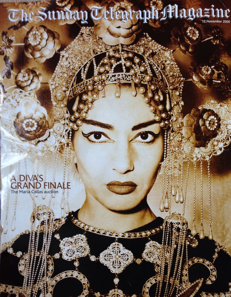 Maria callas - found this cutting I had saved years ago, time to de-clutter but not before posting to Pinterest - beautiful headdress