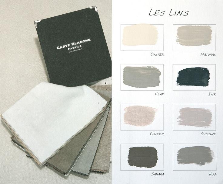 Carte Colori Kleurenkaart Les Lins