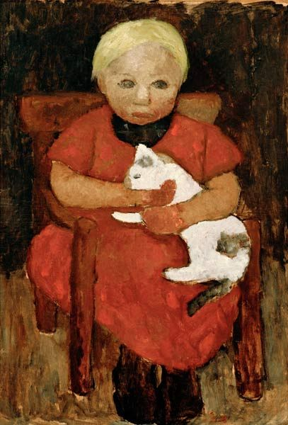 "Paula Modersohn Becker (German, 1876 – 1907) ""Bauernkind mit Katze"""