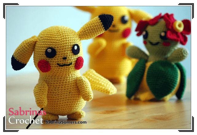 Pikachu - Pokemon - Kostenlose häkelanleitung - Amigurumi