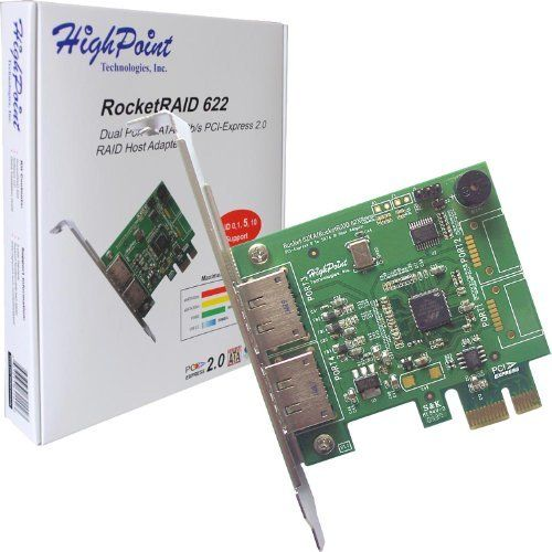 HighPoint RocketRAID 622 2 eSATA Port PCI-Express 2.0 x1 SATA 6Gb/s RAID Controller by HighPoint. $37.99. The RocketRAID 62x offers the next genera on ofSATA and eSATA 6Gb/s conne vity support to portmu plier enclosures for a maximum of 10 SATA devices.. Save 15% Off!