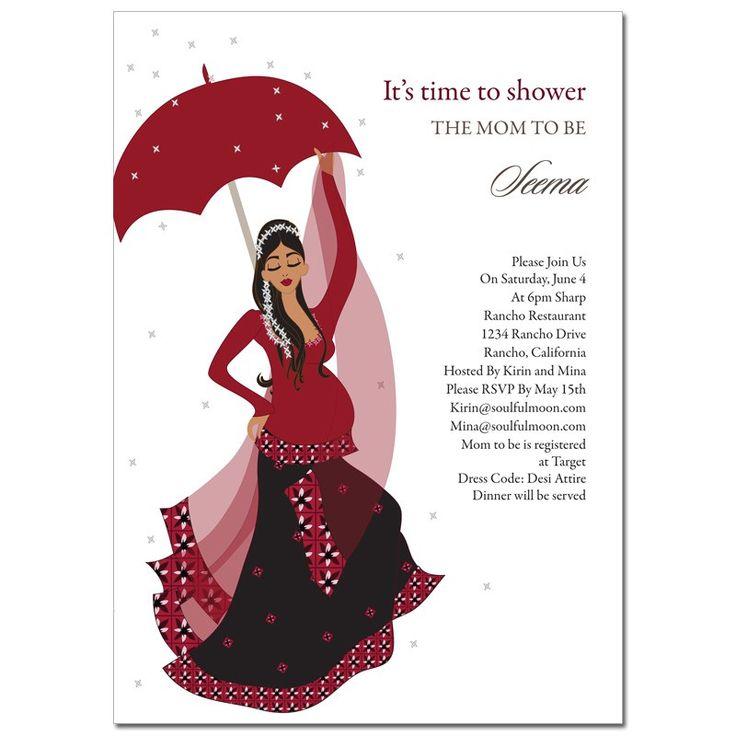 8 best Baby shower invitations desi styles images on Pinterest ...