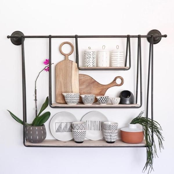 Three Tier Modern Wall Hanging Shelf In 2020 Diy Hanging Shelves Modern Wall Hanging Wall Hanging Shelves