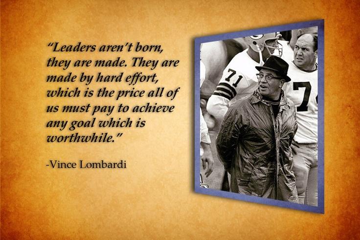 Vince lombardi leadership style