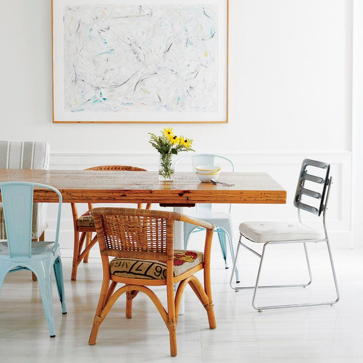 The Eclectic Dining Room - Sunny Cape Cod Cottage Tour - Coastal Living