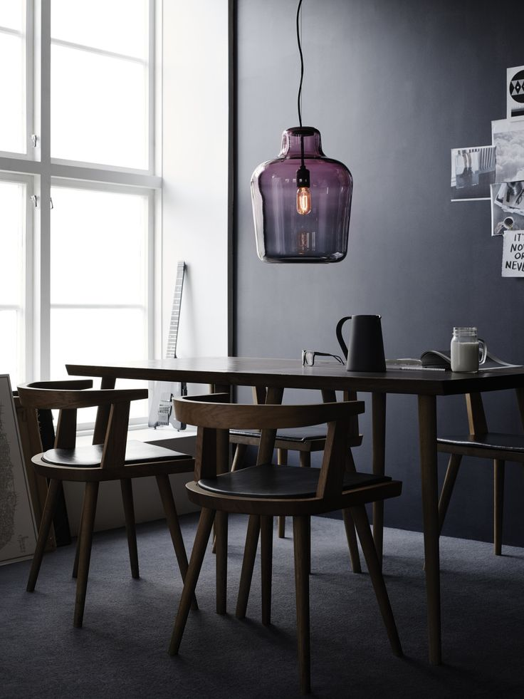 I just love the colour and the shape of this lamp! www.morten-jonas.no
