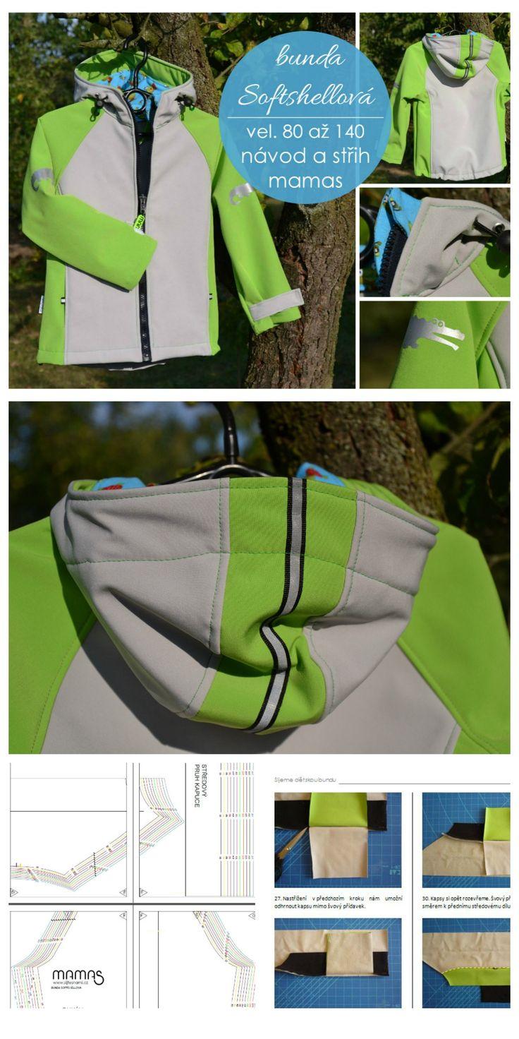Softshellový bunda s raglánovým rukávem. Návod a střih mamas.