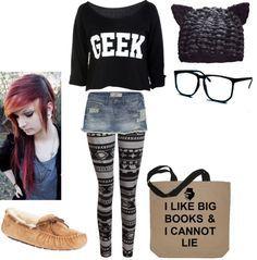 Geek Outfit on Pinterest | Cute Geek Outfits