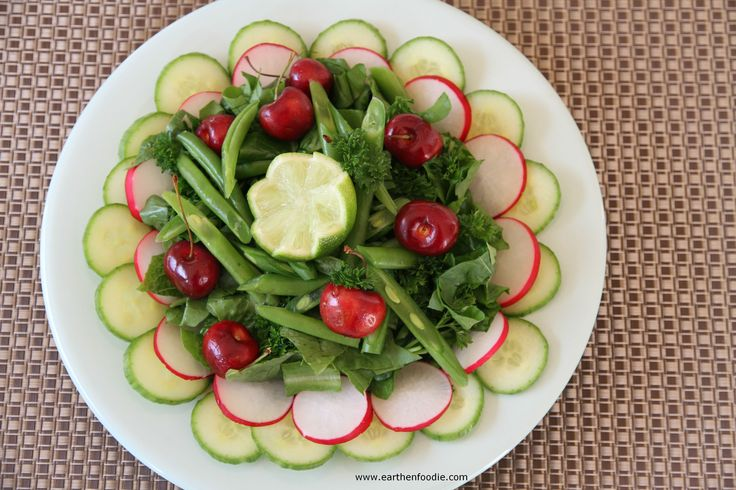 Green Salad with Cherries and Lime