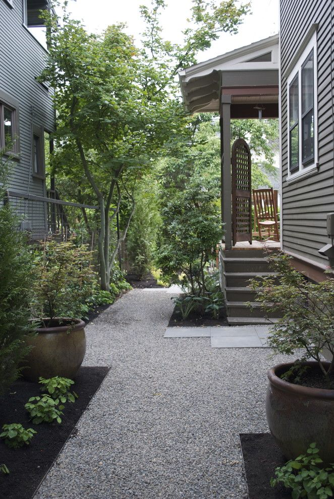 79 best Narrow space, Side yard images on Pinterest | Side ... on Side Yard Path Ideas id=76379