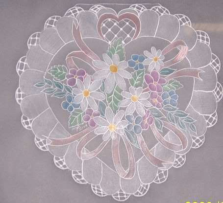 Parchment craft heart. Never heard of this until today!