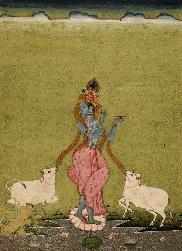 Krishna as the divine cowherd Bikaner, Rajasthan, ca. 182