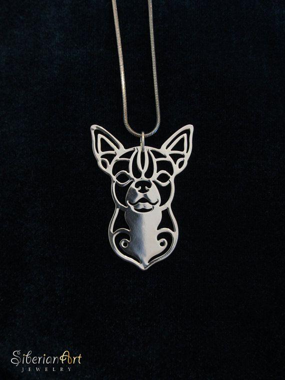 Chihuahua jewelry  silver dog jewelry  by SiberianArtJewelry, $75.00