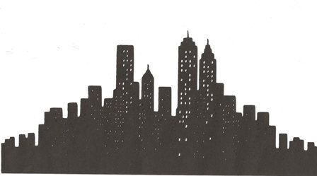 New York City Skyline silhouette large, via Etsy.