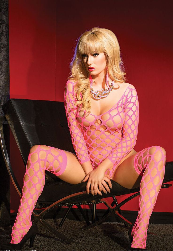 Sexy womens fishnet bodysuit pink teddy lingerie elastic neck crotchless spandex bodysuit hollow out sexy