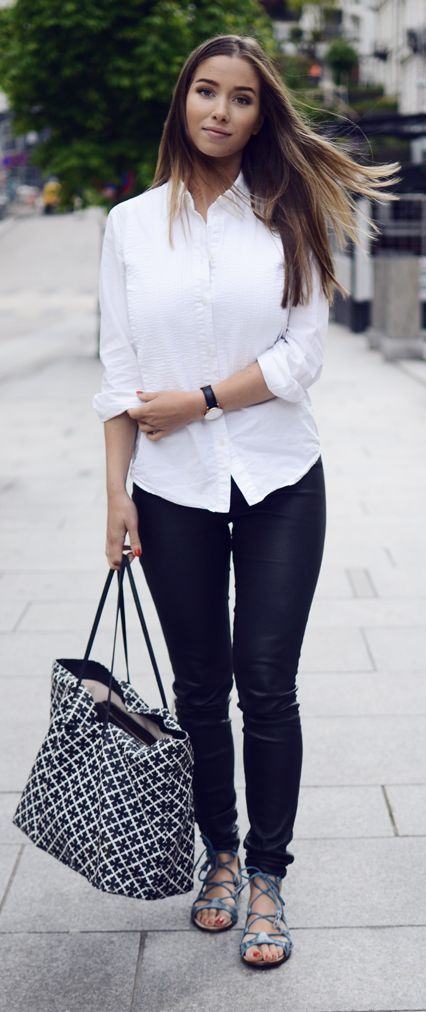 Black And White Casual Classic Outfit