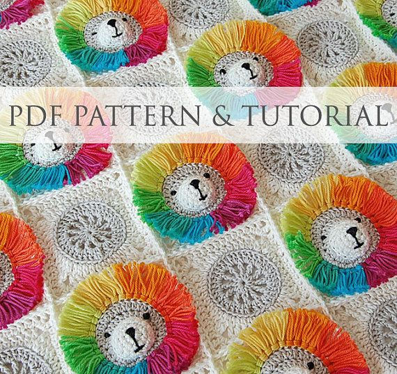 CROCHET PATTERN: Rainbow Lion Baby Blanket & step-by-step tutorial