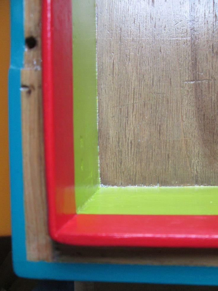 Cassetta militare in legno: particolare