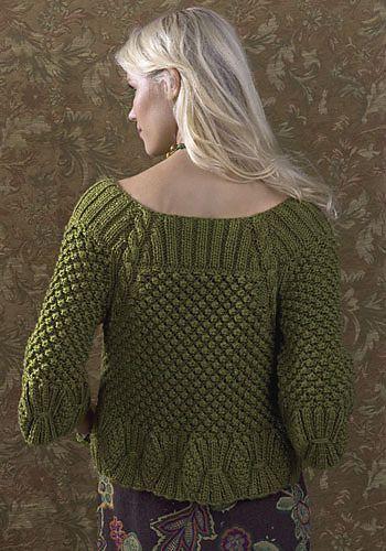 Free Pattern: Turpan Cardigan by Deborah Newton