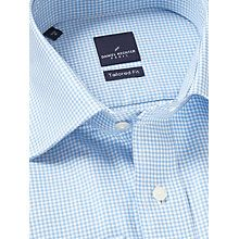 Buy Daniel Hechter Gingham Tailored Fit Shirt, Blue/White Online at johnlewis.com