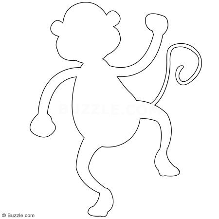 monkey outline - Google Search