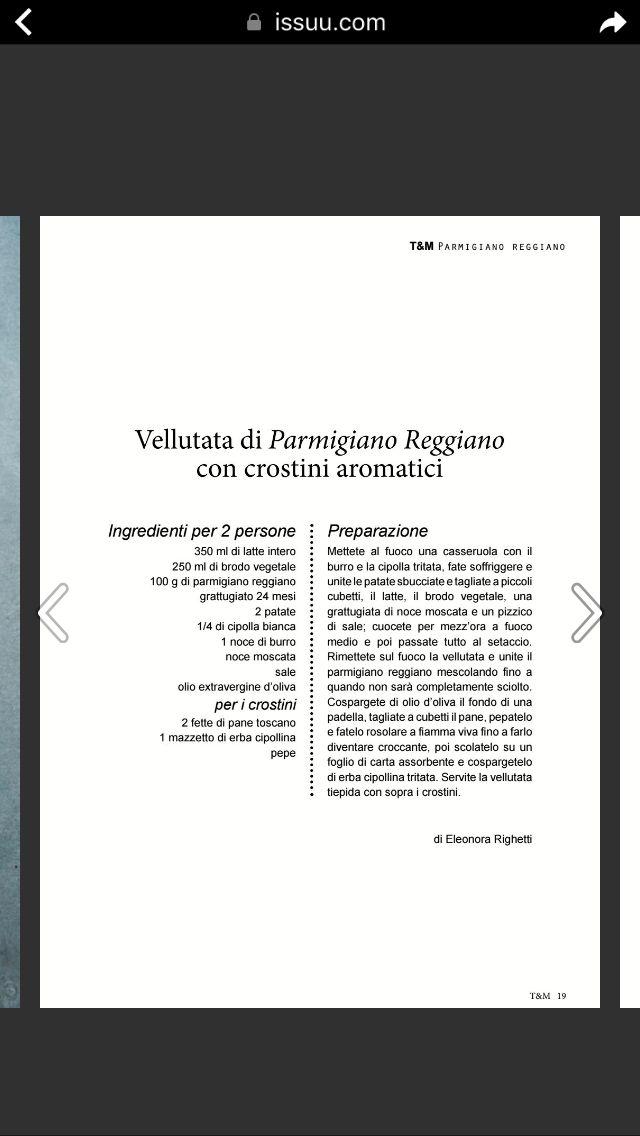 Vellutata di Parmigiano con crostini aromatici