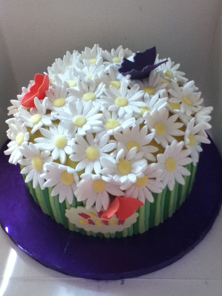 Easter flowers..... Gluten free fruit cake with fully edible flowers