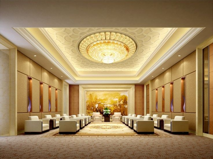 Luxury VIP Reception Interior Design False Ceiling Pinterest Receptions