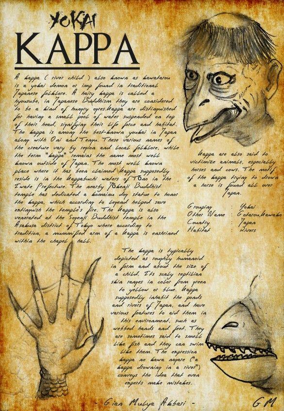 Gian's Creatures Journal : KAPPA ( Yokai )