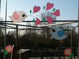 raamschildering vogels