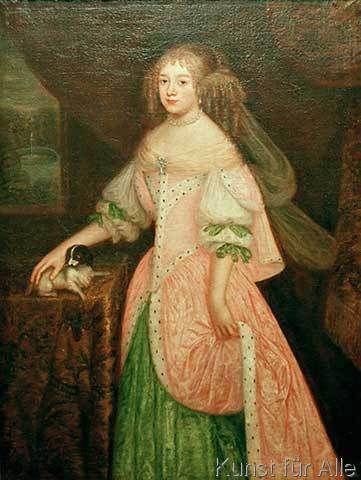 Johann Baptist de Ruel - Liselotte von der Pfalz / J.B. Ruel. (53,0 x 71,0 cm)