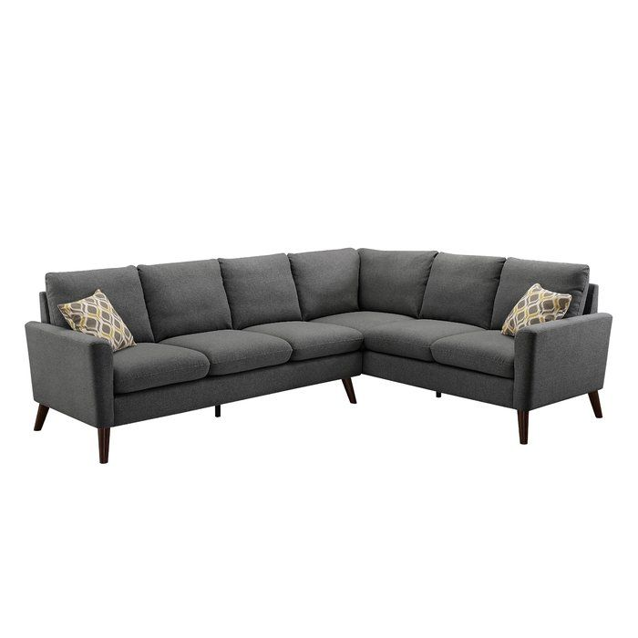 Bidwell Right Hand Facing Sectional Fabric Sectional Sofas Sectional Deep Seated Couch