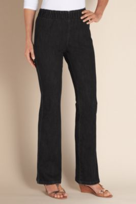 Bootcut Leggings - Stretch Denim Legging, Bootcut Jegging, Pants   Soft Surroundings