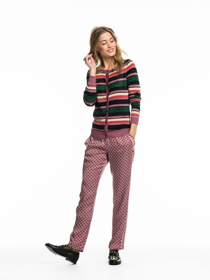 Maison Scotch Striped Lurex Cardigan 134187 - plum.boutique - 1