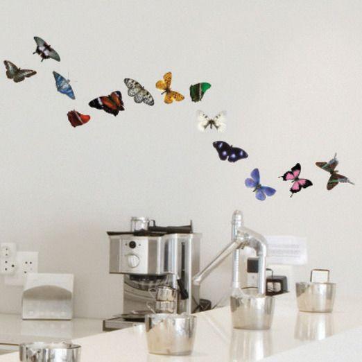 Beautiful butterflies. Wallstickers from SmartBaby.