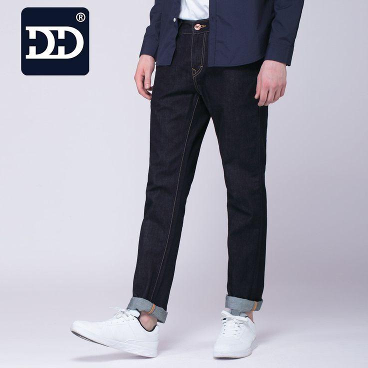 Dingdi Famous Brand Winter Jeans Biker Jeans Men Zipper Dark Blue Warm Jeans Men's Designer Clothes Pants