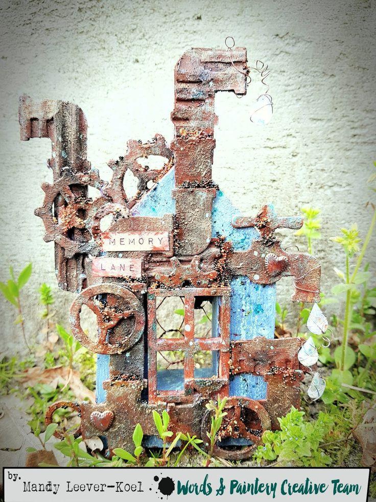 Hi all,   Time for a new challenge over at Words & Paintery! You can find it HERE   Check out the nice 'n rusty moodboard, the desig...