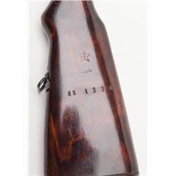 "Russian SKS semi-auto rifle, 7.62 x 39mm cal., 20-1/2"" barrel, import-marked, black finish, wood stock"