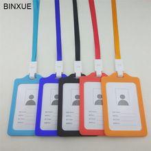 BINXUE Tuba Employee ID Tapa de La tarjeta Titular de la tarjeta de etiqueta de identificación personal insignia 1 CM ancho Cordón hebilla De Plástico Segunda mitad precio(China (Mainland))