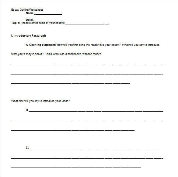 25 Essay Outline Templates Pdf Doc Free Amp Premium